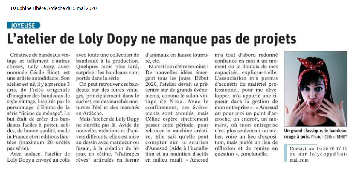 2020 05 12 - DL - coup de proj - Loly Dopy du 5 mai 2020